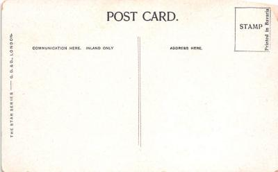 cir007253 - Any Article on the Board a Penny One Legged Man,  Post Card  back