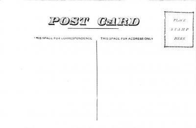 cir007411 - Circus Post Card, Old Vintage Antique Postcard  back