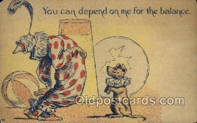cir010019 - You can depend on me for balance Circus Old Vintage Antique Postcard Post Card