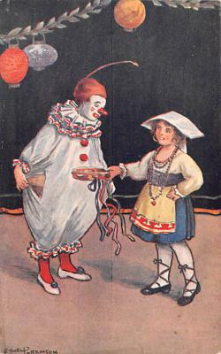 cir100675 - Circus Clowns Acts Old Vintage Post Cards