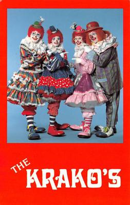 cir100741 - Circus Clowns Acts Old Vintage Post Cards