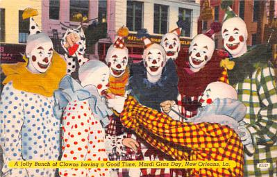 cir100749 - Circus Clowns Acts Old Vintage Post Cards
