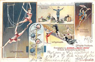 cir100885 - Circus Acts Post Cards