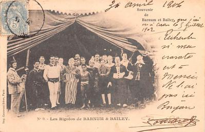 cir101023 - Circus Acts Post Cards