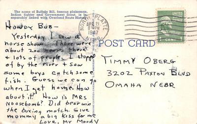 cir101221 - Circus Post Cards  back