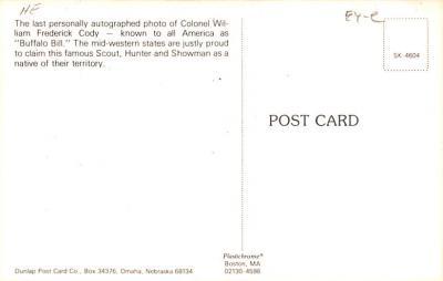 cir101223 - Circus Post Cards  back
