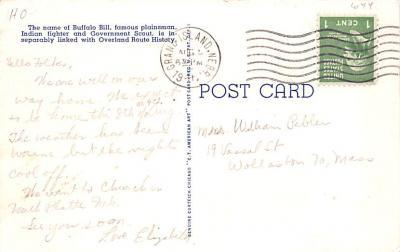 cir101233 - Circus Post Cards  back