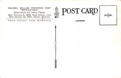 cir101243 - Circus Post Cards  back