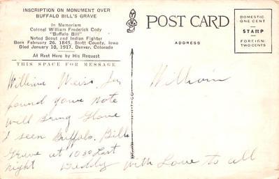 cir101263 - Circus Post Cards  back