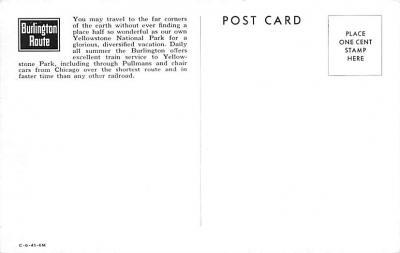 cir101283 - Circus Post Cards  back