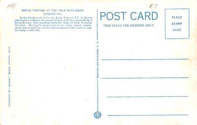 cir101287 - Circus Post Cards  back