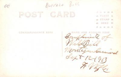 cir101307 - Circus Post Cards  back