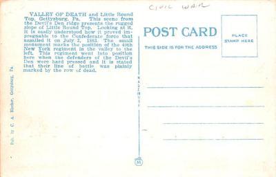 civ002145 - Civil War Post Card Old Vintage Antique Postcard  back