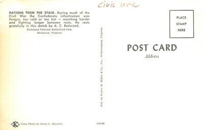 civ002753 - Civil War Post Card Old Vintage Antique Postcard  back