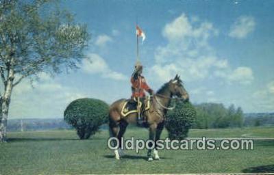 cmp001049 - Black Watch, Royal Canadian Mounted Police, Old Vintage Antique Postcard Post Card
