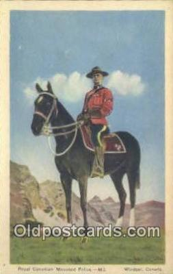 cmp001092 - Black Watch, Royal Canadian Mounted Police, Old Vintage Antique Postcard Post Card