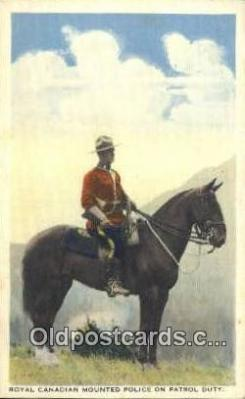 cmp001115 - Black Watch, Royal Canadian Mounted Police, Old Vintage Antique Postcard Post Card