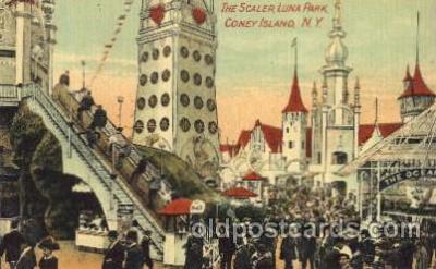 cny001016 - The Scaler, Luna park, Coney Island, NY, USA Coney Island Amusement Park Postcard Post Card