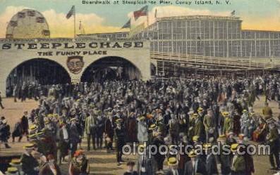 cny001017 - Steeplechase Pier, Coney Island, NY USA Coney Island Amusement Park Postcard Post Card