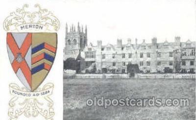 coa001026 - Merton, Coat Of Arms Postcard Post Card