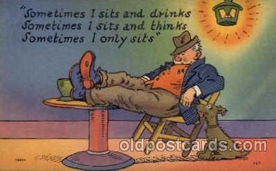 com001039 - Comic, Comedy, Comical Postcard Post Card