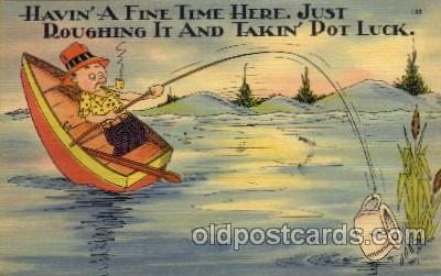 com001322 - Having a fine time here Comic Postcard Post Card