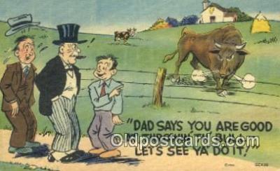 com100712 - Comic Comical Postcard Post Card Old Vintage Antique
