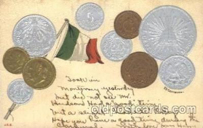 con001014 - Mexico Coin Postcard Post Card