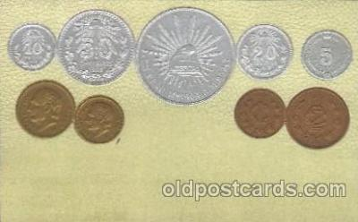con001049 - Mexico Coin, Coins, Postcard Post Card