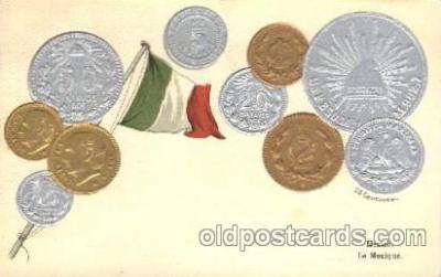 con001066 - Mexico Coin, Coins, Postcard Post Card
