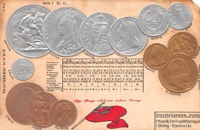 con002045 - Coin Postcard, Old Vintage Antique