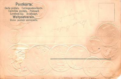 con002045 - Coin Postcard, Old Vintage Antique  back