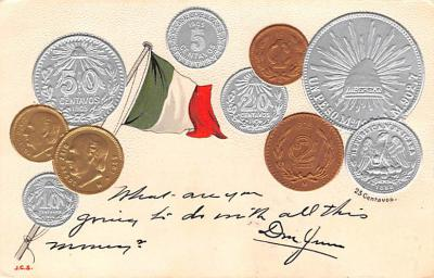 con002077 - Coin Postcard, Old Vintage Antique