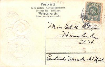con002077 - Coin Postcard, Old Vintage Antique  back