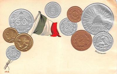 con002093 - Coin Postcard, Old Vintage Antique