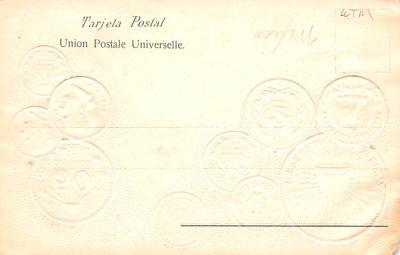 con002093 - Coin Postcard, Old Vintage Antique  back