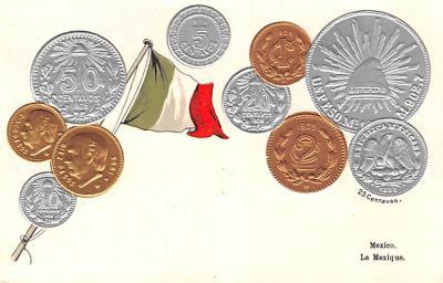 con002103 - Coin Postcard, Old Vintage Antique