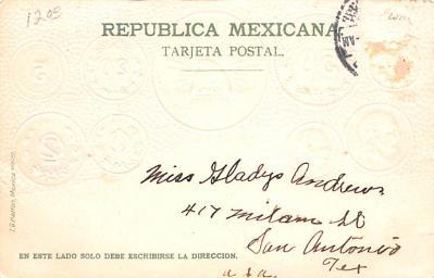 con002109 - Coin Postcard, Old Vintage Antique  back