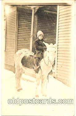 cop001006 - Child, Children on Pony, Donkey Postcard Post Card