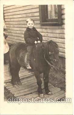 cop001012 - Child, Children on Pony, Donkey Postcard Post Card