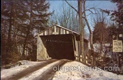 cou001024 - Windsor Mill, Ashtabula, County, Windsor, Ohio Covered Bridge Bridges, Postcard Post Card