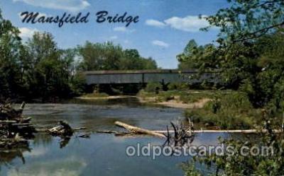 cou100027 - Parke County, Indiana USA Mansfield Bridge