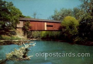 cou100099 - Rosedale, Indiana USA Red Bridge