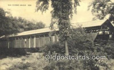 cou100135 - Old Covered Bridge, USA Covered Bridge Postcard Post Card Old Vintage Antique