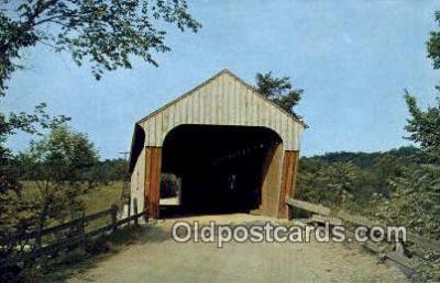 cou100203 - Hartland, VT USA Covered Bridge Postcard Post Card Old Vintage Antique
