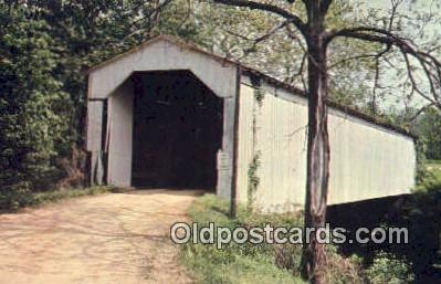 cou100245 - Cade's Mill, IN,USA Covered Bridge Postcard Post Card Old Vintage Antique
