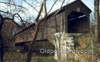 cou100253 - Meems Bottom, VA USA Covered Bridge Postcard Post Card Old Vintage Antique