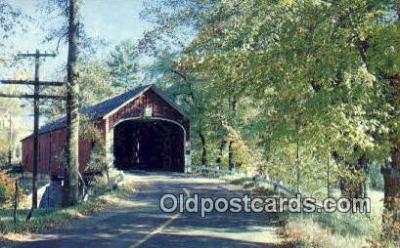 cou100260 - Kissing Bridge, OH USA Covered Bridge Postcard Post Card Old Vintage Antique
