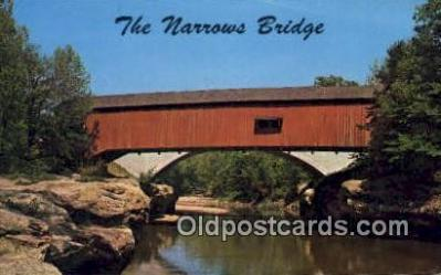 cou100271 - The Narrows, Turkey Run State Park, IN USA Covered Bridge Postcard Post Card Old Vintage Antique