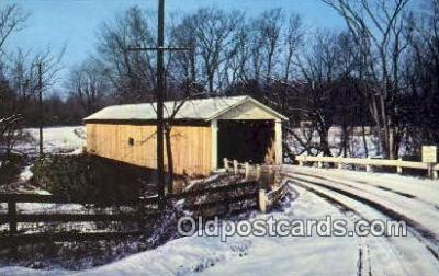 cou100283 - Riverdale, Ashtabula Co, OH USA Covered Bridge Postcard Post Card Old Vintage Antique